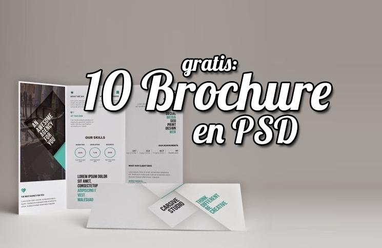 10 Brochure GRATIS en formato PSD listos para usar (Mockups ...