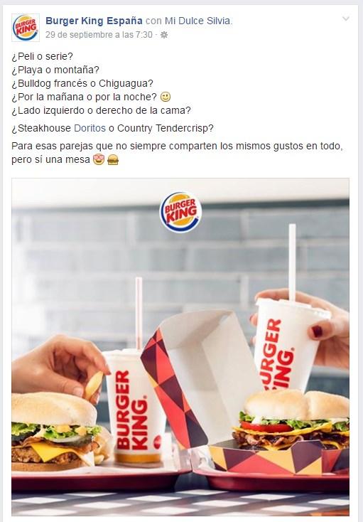 aumentar las intracciones en facebook mi herramienta burger king españa