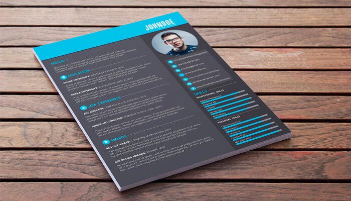 1 Free PSD Resume Template
