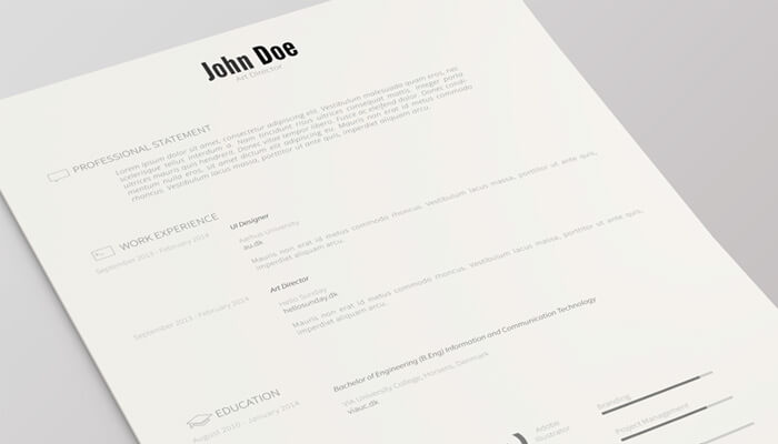 1 Resume Template Version 2