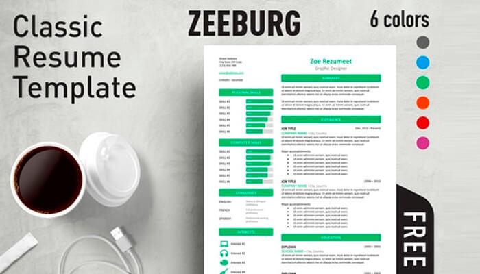 1 Zeeburg Resume Template Word