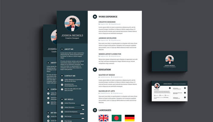 10 Best Job Resume Format With Business Card