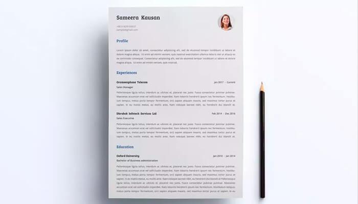10 Simple Resume