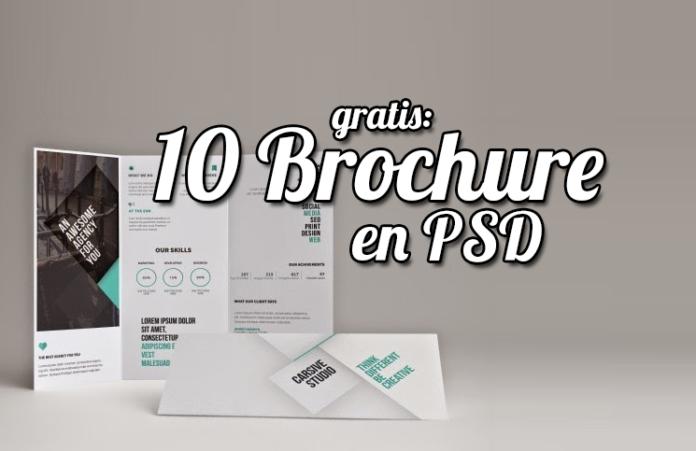 10 brochure gratis en formato psd listos para usar mockups