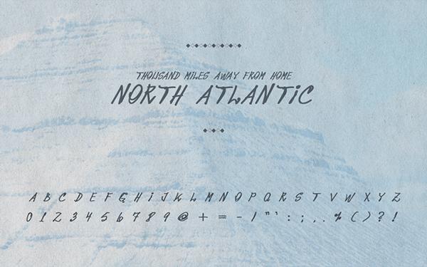 10 tipografias gratis manuscritas Noth Atlantic