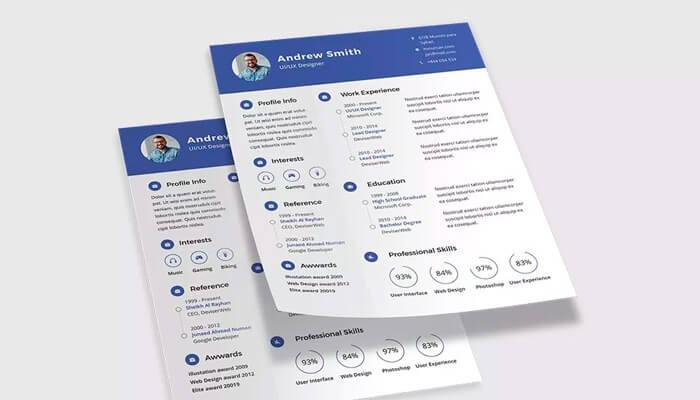 13 Free PSD CV-Resume Template