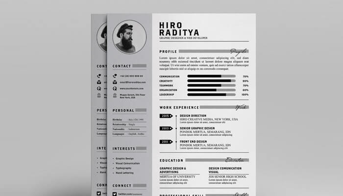 13 Resume and Portfolio Template - YA