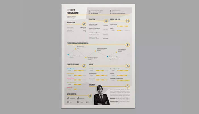 14 Stylish Infographic Resume