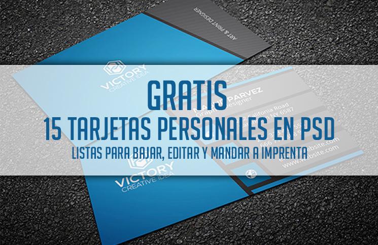 15 tarjetas personales en PSD y GRATIS, listas para utilizar ...