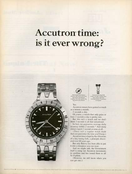 19 anuncios reales de la era Mad Men Accutron