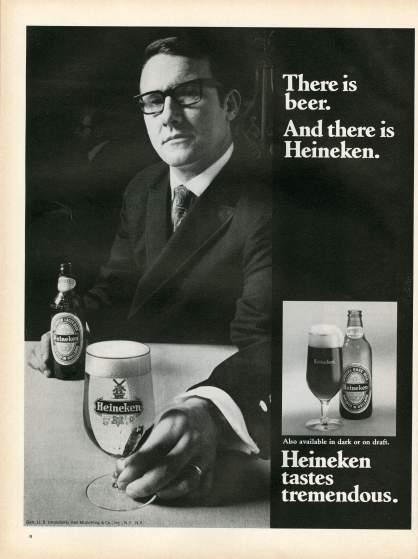 19 anuncios reales de la era Mad Men Lucky Heineken
