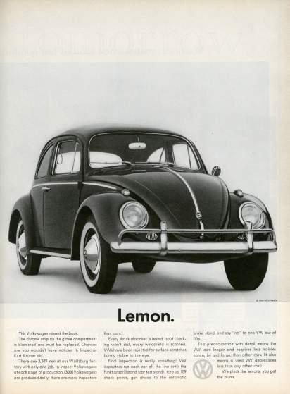 19 anuncios reales de la era Mad Men Volkswagen