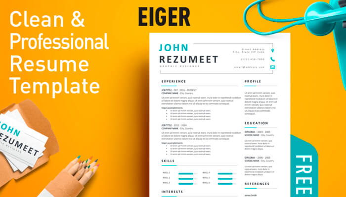 2 Eiger Resume Template Word