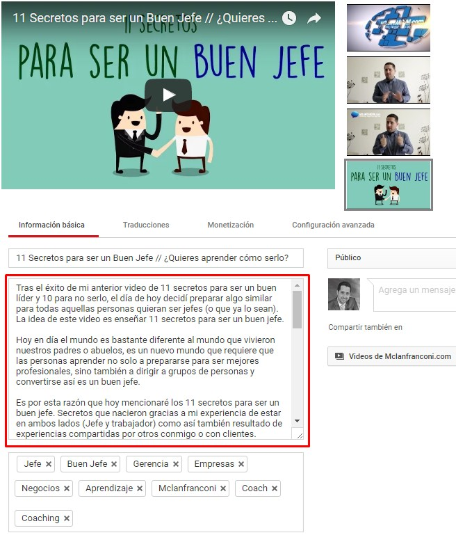 aumentar suscriptores en youtube descripcion