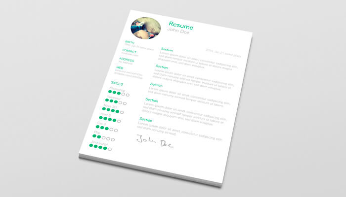 3 Free Resume Template Illustrator