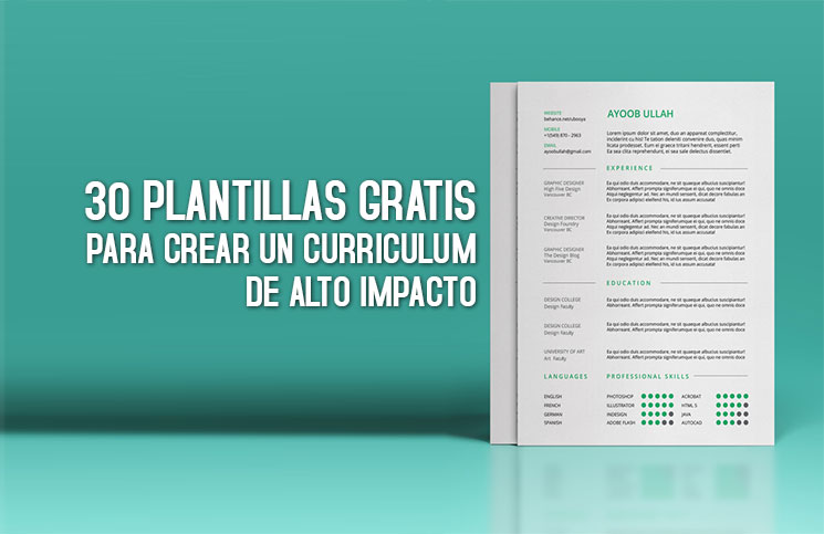 30 Plantillas Para Curriculum Gratis Curriculum De Alto Impacto