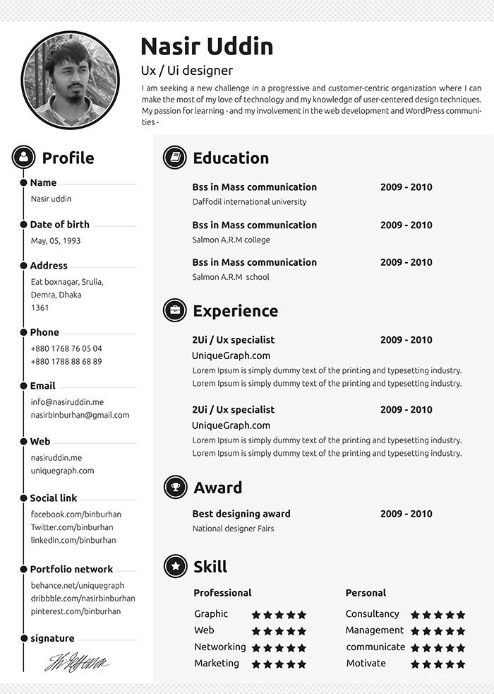 great resume examples 2018