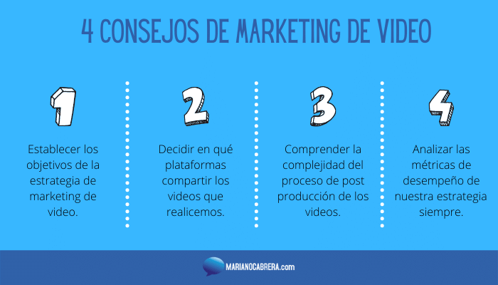 4 CONSEJOS DE MARKETING DE VIDEO