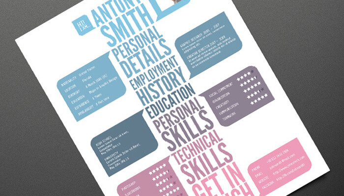 4 Creative Resume Template