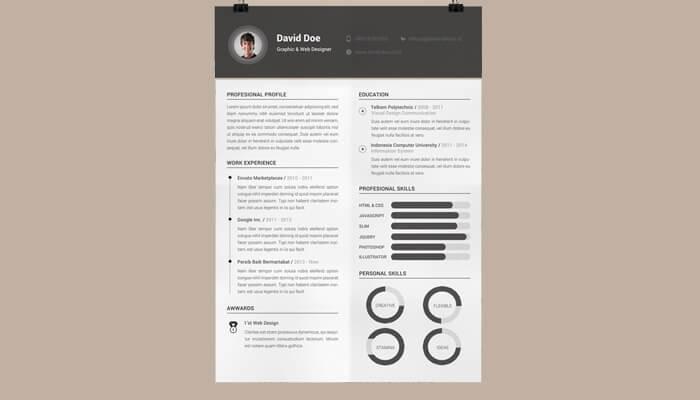 5 Free Elegant Resume Template