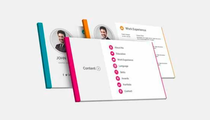 5 Resume Powerpoint Template