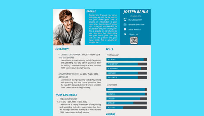 7 Resume Template Powerpoint
