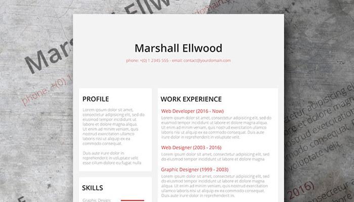 9 Desaturate Resume Template Word