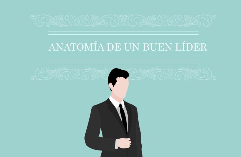 Infografía que detalla cómo es la anatomía de un buen líder