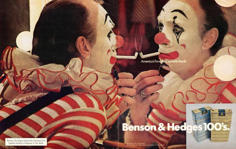 Anuncios con payasos Benson & Hedges