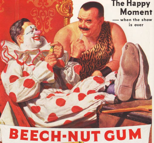 Anuncios con payasos beech-nut Gum