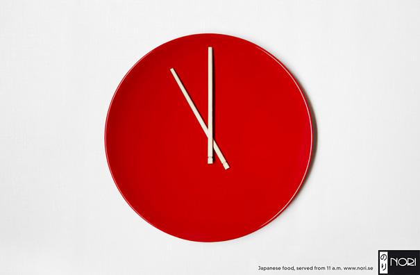 Anuncios minimalistas - Comida Japonesa