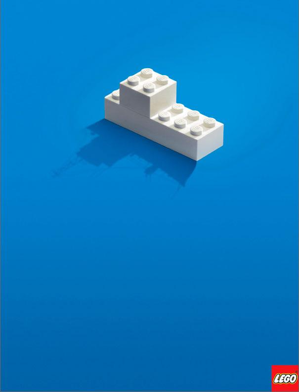 Anuncios minimalistas - Lego