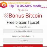 Bonus Bitcoin pantalla