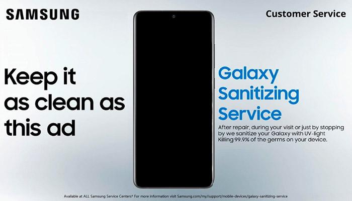 Campaña Samsung desinfectar teléfonos coronavirus