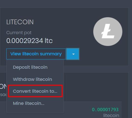 Convertir Litecoin a Dogecoin