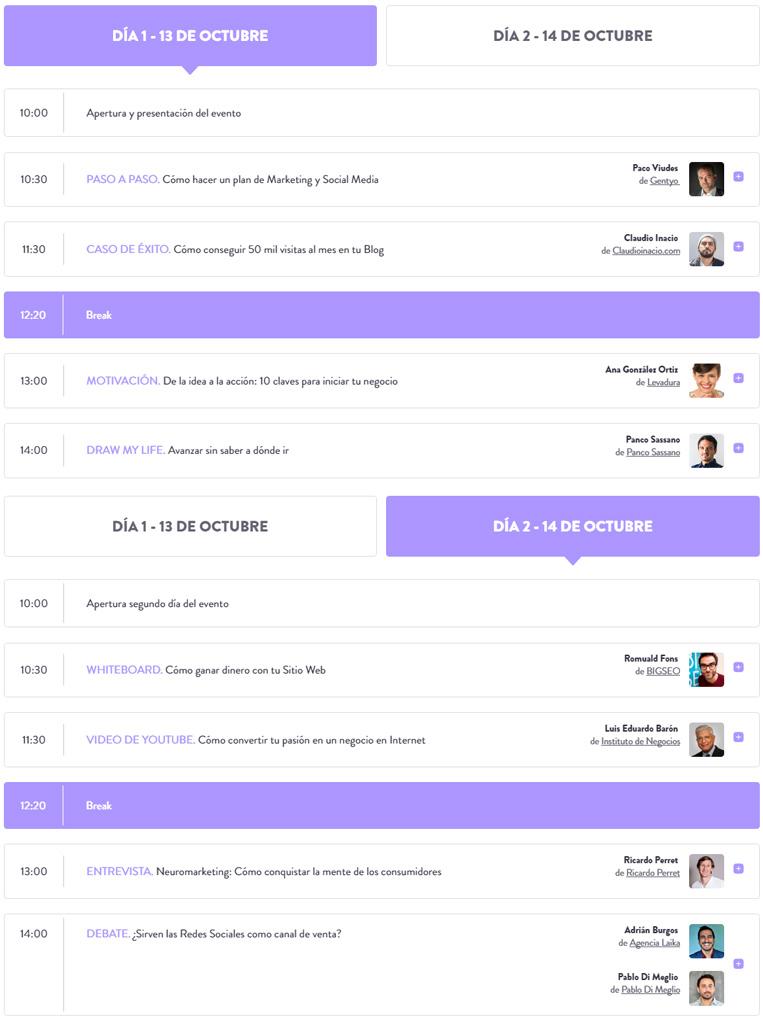 EMMS 2016 conferencias