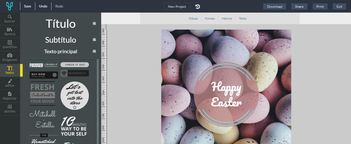 Editor Online Desygner editar texto