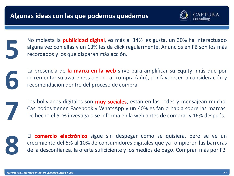 El consumidor Digital Boliviano 2017 (27)