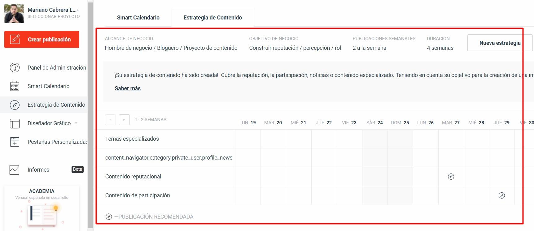 Estrategia crear contenido en PublBox