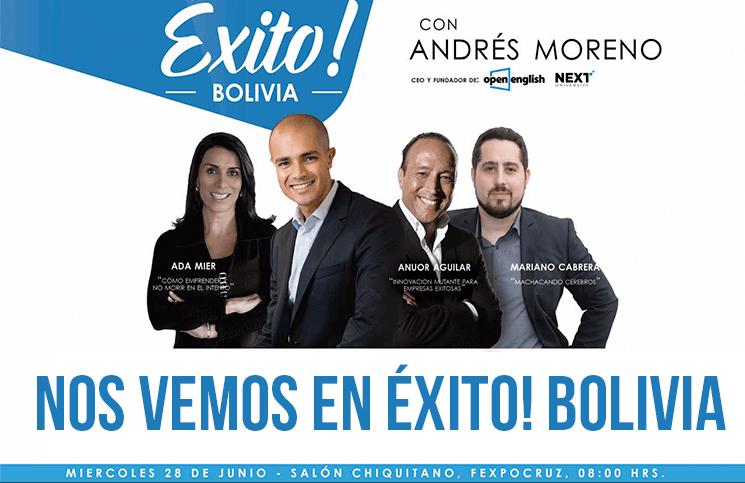 Éxito! Bolivia: 4 conferencias para los emprendedores de Bolivia
