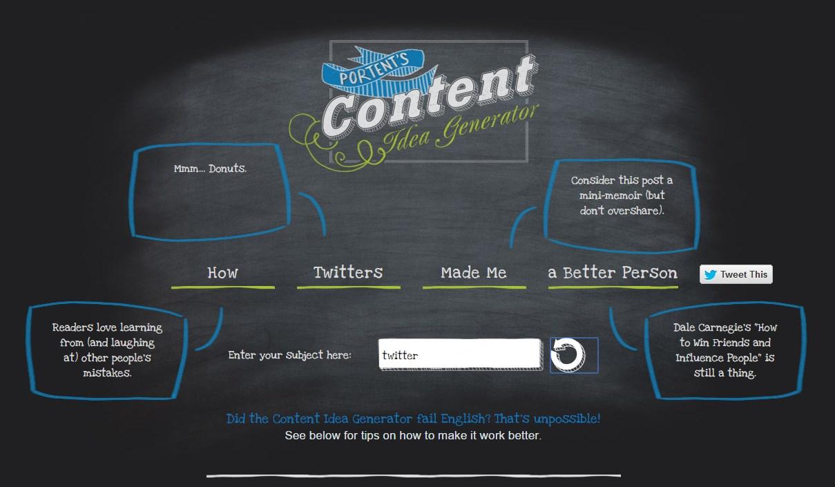 Ideas para escribir en un blog con portend 2