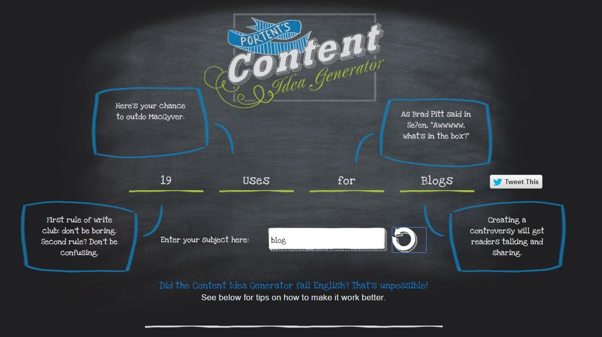 Ideas para escribir en un blog con portend 4