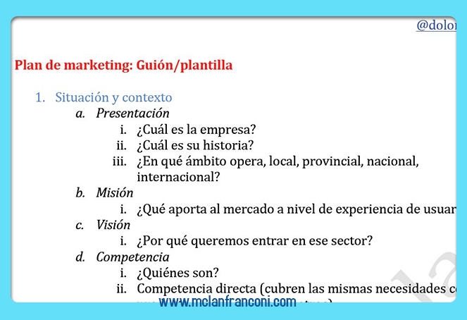 Planes de marketing para empresas 2