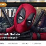 Portada DeadPool Cinemark Bolivia