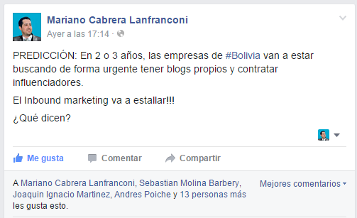 Predicciones marketing en bolivia mariano cabrera lanfranconi