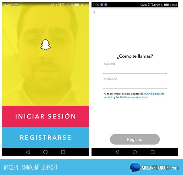 guia para dominar snapchat registro