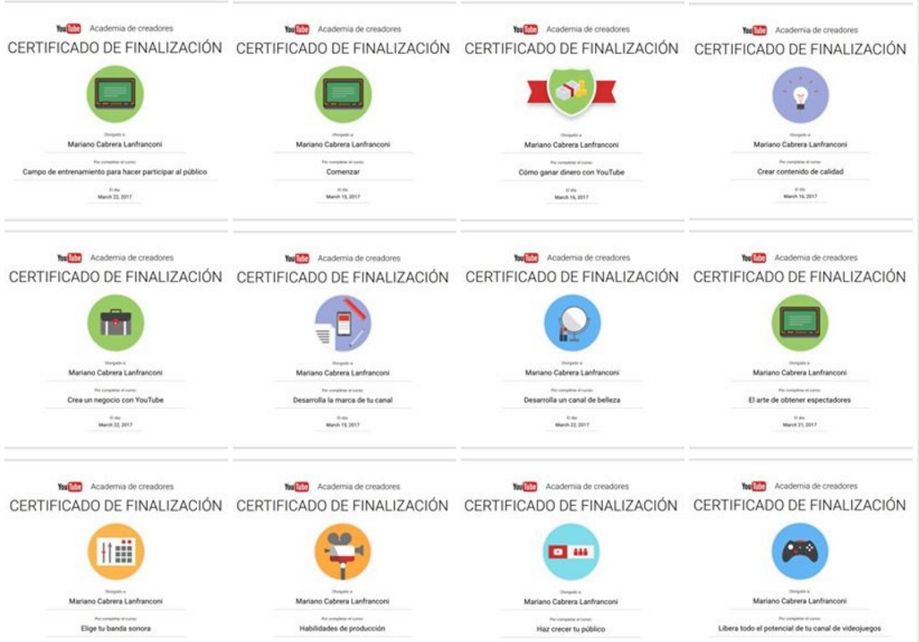 errores de youtube certificados