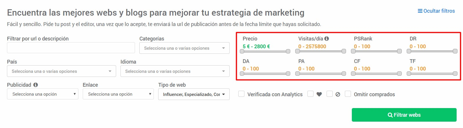 Backlinks de calidad autoridad