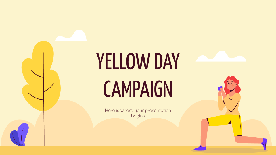 Yellow Day Campaign by slidesgo