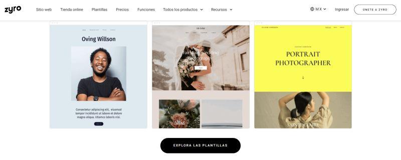 Zyro, crear sitio web emprender online